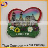 LORETO Europe city souvenir resin fridge magnet