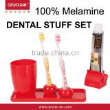 D670 plastic bathroom set with toothbrush holder tumber toothpaste squeeazer bathroom furniture