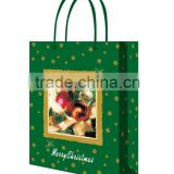 logo printing custtomized shopping luxury lamination paper bag for shopping bag