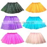 baby girls party Star glitter sparkly tulle tutu Dance tutu skirt Girls summer short skirt SK-4