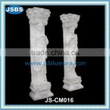 outdoor ornament hand carved natural stone column