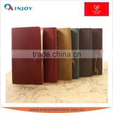 PU leather cover ring binder journal book with power bank                                                                         Quality Choice
