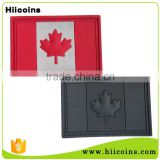 Promotion Cheap Custom 3D PVC Canadian Flag Rubber PVC Patch