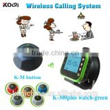 Wireless Waiter Call Wrist Watch Pager Functional Waiter Paging System Wireless service calling system