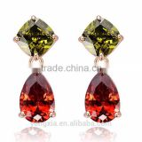 colorful zircon drop earrings jewellery pendientes aretes por mayor