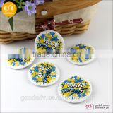 Factory manufacture custom printed pin badge button badge/diy metal badge