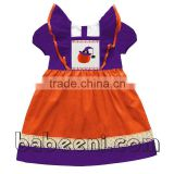 Beautiful pumpkin with witch hat hand smocked dresses