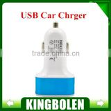 2015 New design USB Car Charger 3 Port USB Car Charger for Mobile Phone car Charger 2.1A USB Car Charger
