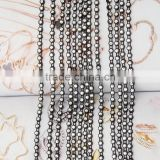 A single row of black plastic line diamond chain for dress shoes trim cap decoration accessories
