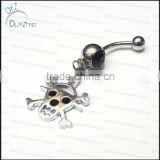 skull navel piercing nickel free belly button rings body jewelry