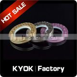 KYOK Home decoration curtain accessories on sale,cast-Iron antique metal aluminum curtain rings with fancy diamond