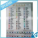good quality cubic zirconia color chart