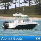 6 meter Fiberglass Hard Top boat with outboard engine (600 Hard Top Fisherman)