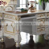 French home office furniture-hand carved solid wood furniture-wooden office writing desk