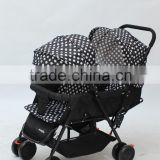 Foldable fashion twins baby stroller/baby carriage/pram/baby carrier/pushchair with new design