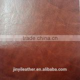 pu crazy horse youpi design raw material leather for Bag brush backing soft copy pu leather nubuk quality same as pu