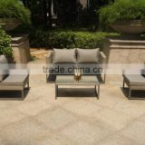 Design stackable space saving wicker furniture outdoor sofa