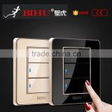 Inquiry About switch manufacture BIHU quality Crystal Acrylic glass 3 gang 2 way touch light switch