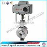 For Paper Mill MINI Electric Segment Regulating Ball Valve