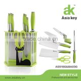 Brand New Stainless Steel Kitchen Knife Set with Acrylic Block