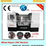 CK6180W Wheel hub scratch repair CNC Lathe Machine With Diamond Cutting Tools                                                                         Quality Choice