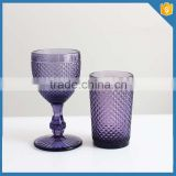 drinking glass material whisky glass cup for sale China supplier purple colored wine glasses wholesale alibaba