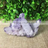Natural Quartz Crystal Cluster Amethyst Purple Top Point Dursy Ornaments