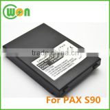 Brand New S90 battery for Pax S90 Rechargeable battery 251001 for Pax payment terminal lithium ion battery pack 7.4V