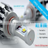 2014 New designed canbus hid ballast,all in one Cree LED headlight,H1,H4,H7,H11,H13,9005,9006,etc..