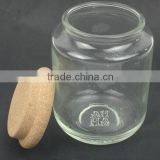 400ml storage candle glass jars holders with cork stopper wholesale