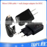 Original OEM TC-P900 EU 2 Pin Micro USB Travel Charger Plug High Output 1.5A For HTC ONE M9 M8 M7 Desire 500