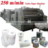 Mitsubishi PLC Troublde Free Embossing Perforating High Speed Automatic Toilet Tissue Paper Making Machine