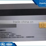 Silver pvc card printing smart cotnact card with chip and magnetic stripe for membership loyalty