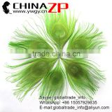 ZPDECOR Factory Bulk Sale Cheap Selling Dyed Lime Green Trimmed Short Peacock Feathers for DIY