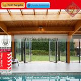 China gold supplier swimming pool exterior glass accordion folding door price