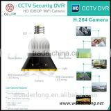 Hotsale real LED light Bulb WiFi/AP IP Network DVR Camera with real light control by mobile phone