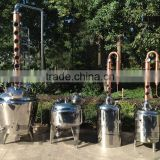 100L 200L 300L stainless steel distillation equipment with copper column vodka rum whiskey distillery for sale