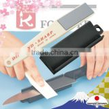 Diamond sharpener with knife sharpening system good for ceramic , titanium , etc.