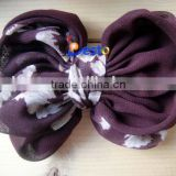 CF1104 Antique ribbon chiffon fabric bow tie for accesssories