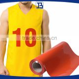 Jiabao Flex PU heat transfer vinyl for basketball jersey, Iron On T-Shirt Vinyl , Cuttable Vinyl, CPSIA Certified, Orange