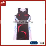 Sublimation Girls netball blouse , ladies fitness tennis dress,