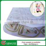 QINGYI heat transfer film label printing for garment