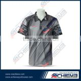 Active custom fashion dye polo shirts sublimation cricket jerseys vintage print team cricket suits wear