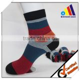 100% modal cotton anti-bacterial Men's leisure and business colored striped cotton socks