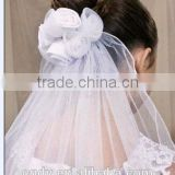 Wholesale Nifty Short Bridal Veil Embroidered Scattered Beaded Arabic Wedding Veil