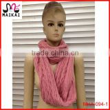 Ladies hot fashion knitted winter neck warmer, young tube scarf