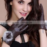 PU Leather Gloves Screen Touch Women Gloves Windproof Gloves Winter