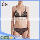 High Quality Mini Girls Sexy Lady Stylish Lace Transparent Underwear Net Penti Bra & Brief and Panty Panties Lingerie Set