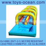 inflatable super slip n slide water game inflation water games crazy backyard water sliding game