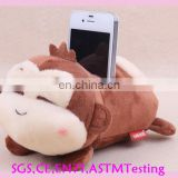 OEM lovely animal plush mobile phone holder